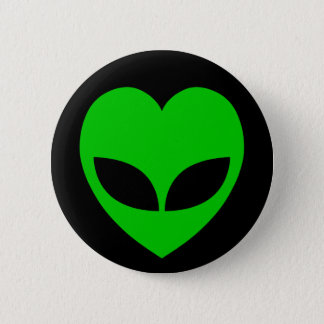 Alien Love Heart Pinback Button