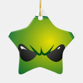 alien mad ceramic ornament