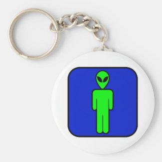 Alien Man Basic Round Button Keychain
