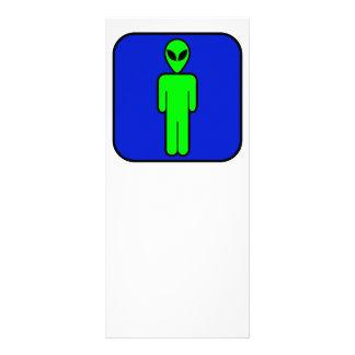 Alien Man Custom Rack Card