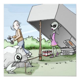 Alien Man Trap Bachelor Party Card