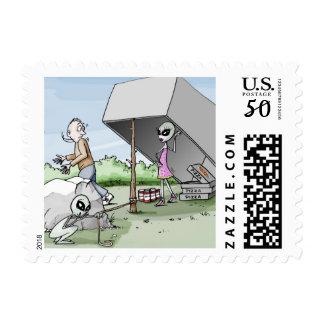Alien Man Trap Postage