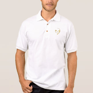 "Alien Mascot in ""Brushed Gold"" Polo"