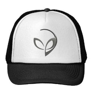 "Alien Mascot in ""Carbon Fiber"" Trucker Hat"