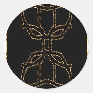 Alien Medallion Classic Round Sticker