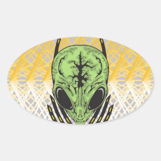 Alien Mental Powers Oval Sticker