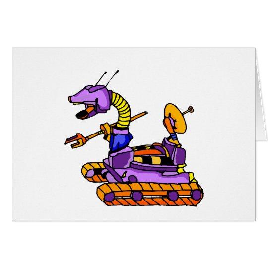Alien Military Robot Card