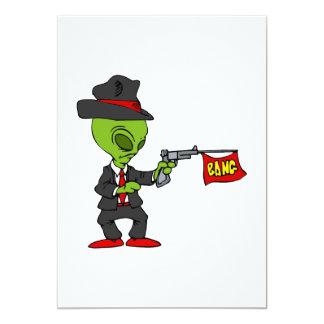 Alien Mobster Custom Invite