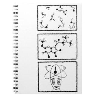 Alien Molecule Spiral Notebooks
