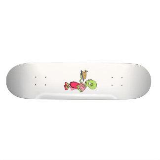 Alien mom cooking skateboard deck