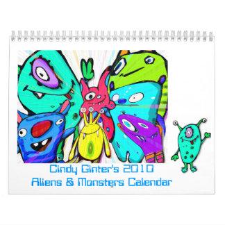 Alien & Monster Calendar 2010 by Cindy Ginter