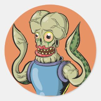 Alien Monster Classic Round Sticker