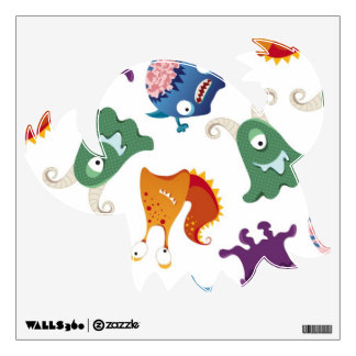 Alien Monster Creatures Self Sticking Wall Decal