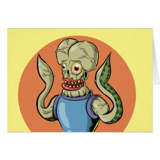Alien Monster Greeting Card