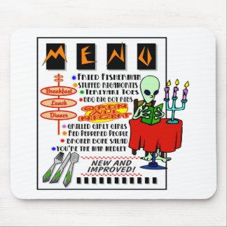 Alien Monster Menu Mouse Pad