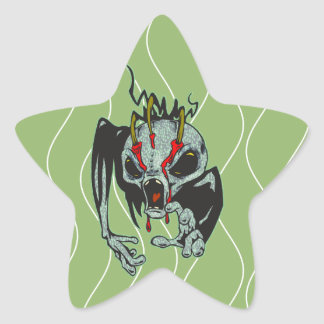 Alien Monster Star Sticker