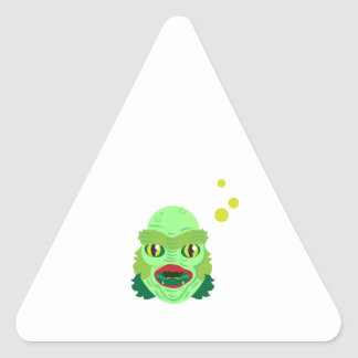 Alien Monster Triangle Sticker