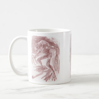 Alien Monster with a Chainsaw Hand *Tinted* Al Rio Coffee Mugs