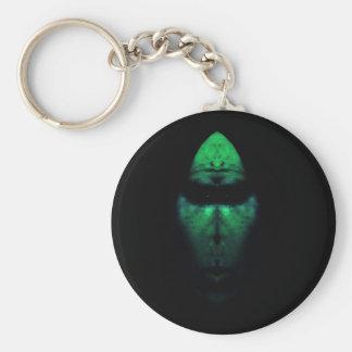 Alien Morph Basic Round Button Keychain
