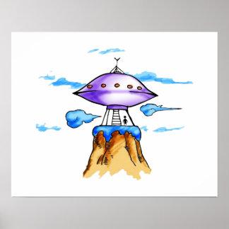 Alien Mountain Posters