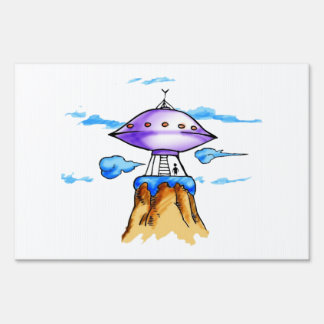 Alien Mountain Sign