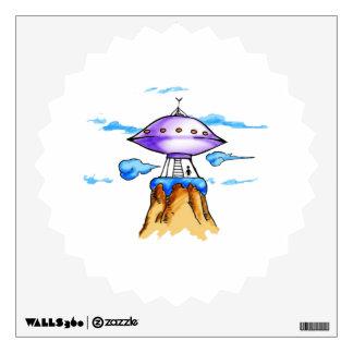 Alien Mountain Wall Sticker
