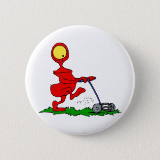 Alien Mowing Lawn Button