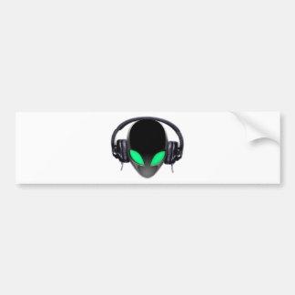 Alien Music Lover DJ - Smooth Cetacean Bumper Sticker