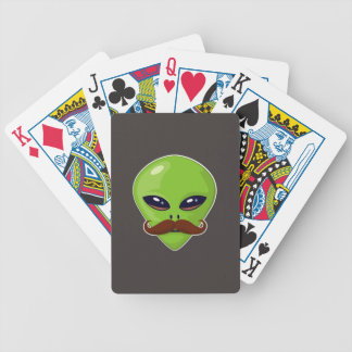 Alien Mustache Bicycle Playing Cards