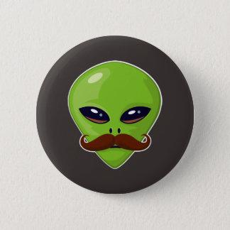 Alien Mustache Button