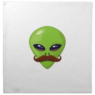 Alien Mustache Cloth Napkin
