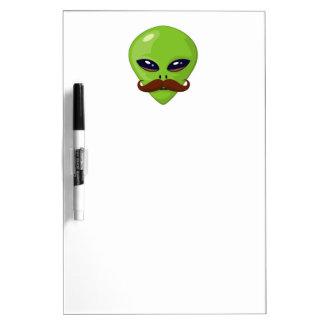 Alien Mustache Dry-Erase Board