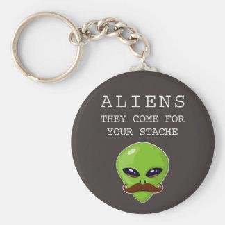 Alien Mustache Keychain