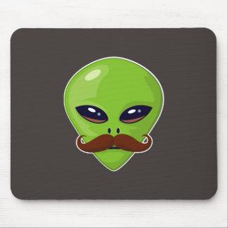 Alien Mustache Mouse Pad