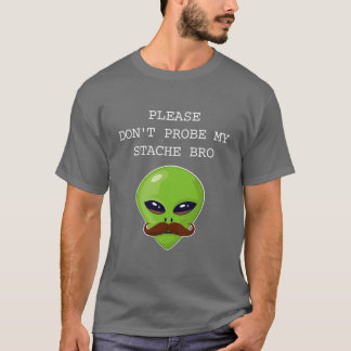 Alien Mustache T-Shirt