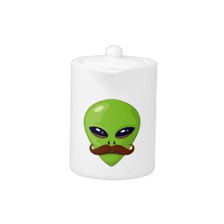 Alien Mustache Teapot