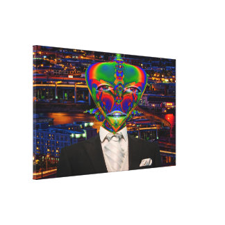 Alien Night Out Gallery Wrapped Canvas