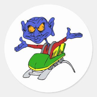 Alien no handed coaster classic round sticker