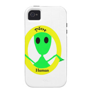 Alien Not Human iPhone 4 Covers