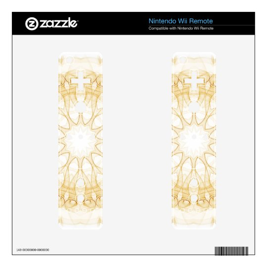 alien oker flowers mandala decal for the wii remote
