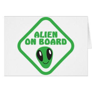 ALIEN on board! Greeting Card