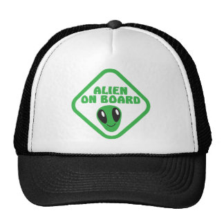 ALIEN ON BOARD! TRUCKER HAT