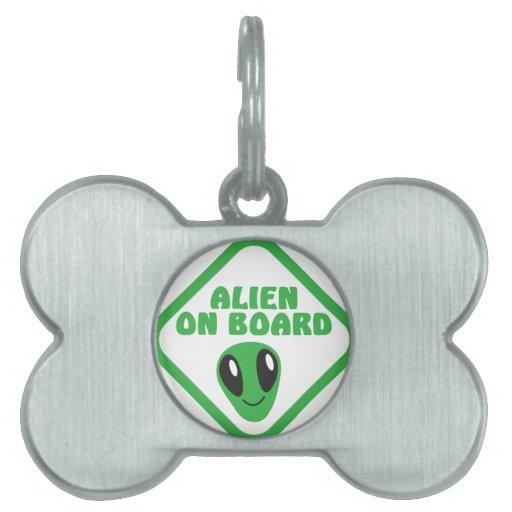 ALIEN on board! Pet ID Tags