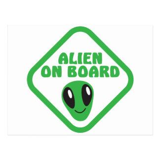 ALIEN on board! Postcard