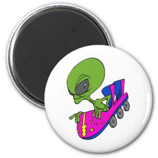 Alien on Coaster Magnet