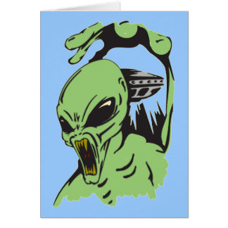 Alien On The Attack Card