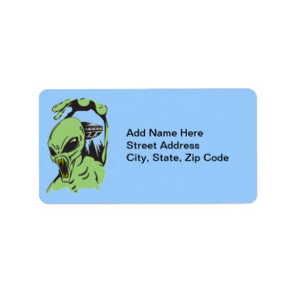 Alien On The Attack Label