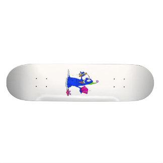 Alien opening presents skateboard