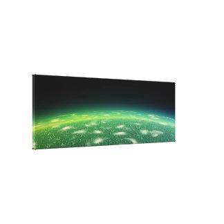 Alien orbit canvas print