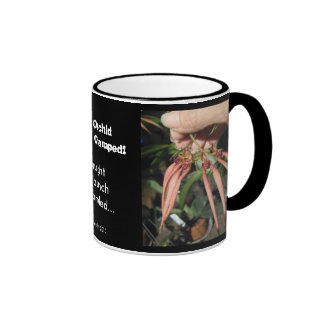 Alien Orchid Invasion Clamped! Ringer Coffee Mug